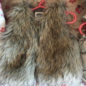 Fur vest for toddler girls